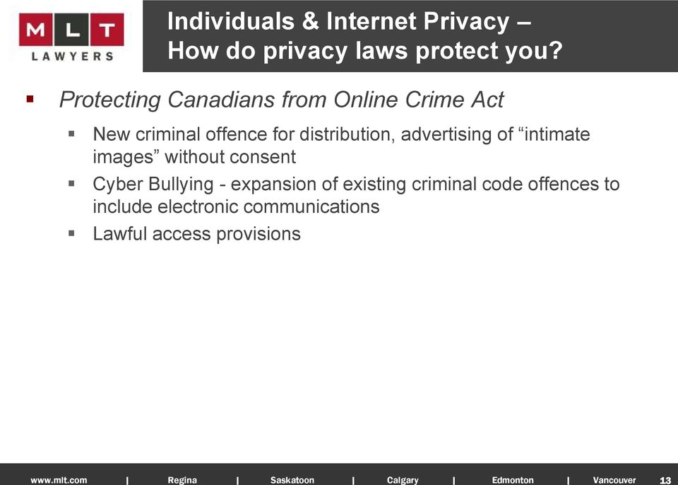 distribution, advertising of intimate images without consent Cyber Bullying -