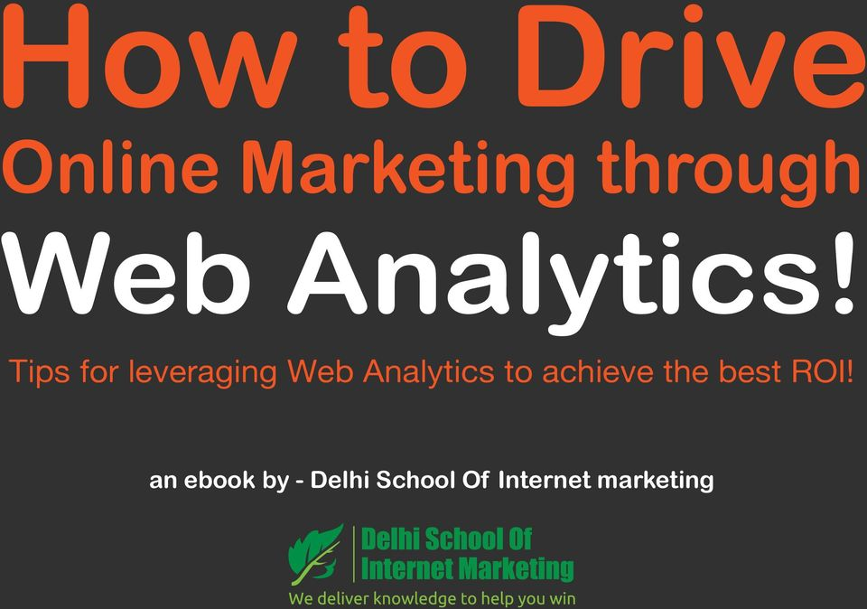 Tips for leveraging Web Analytics to