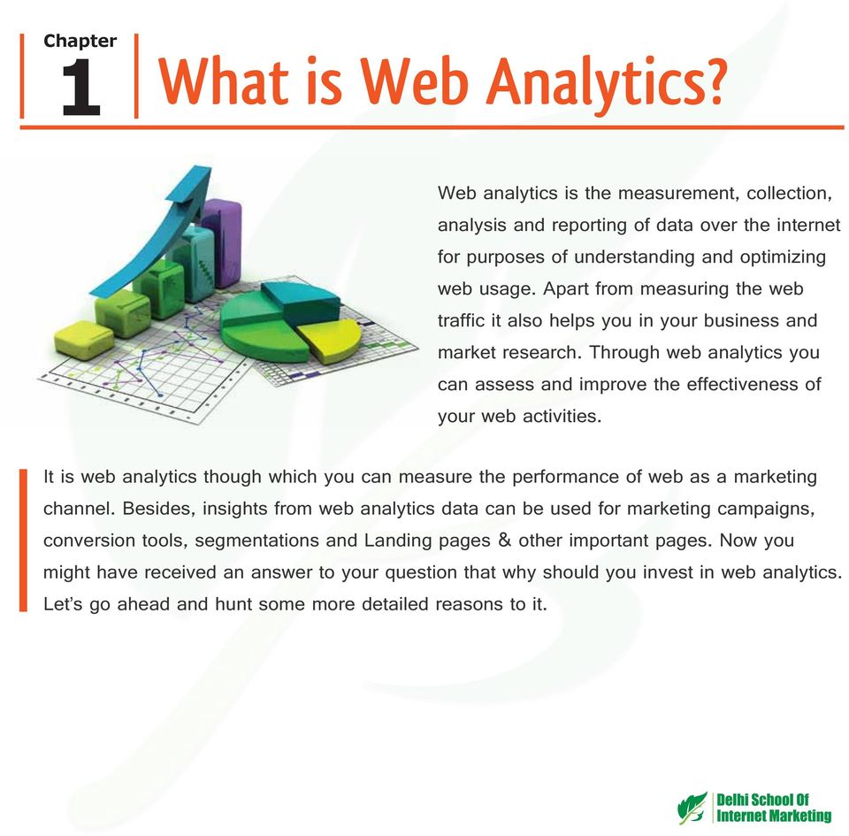 It is web analytics though which you can measure the performance of web as a marketing channel.