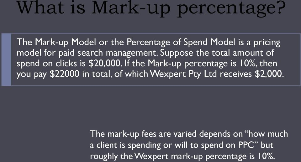 Suppose the total amount of spend on clicks is $20,000.