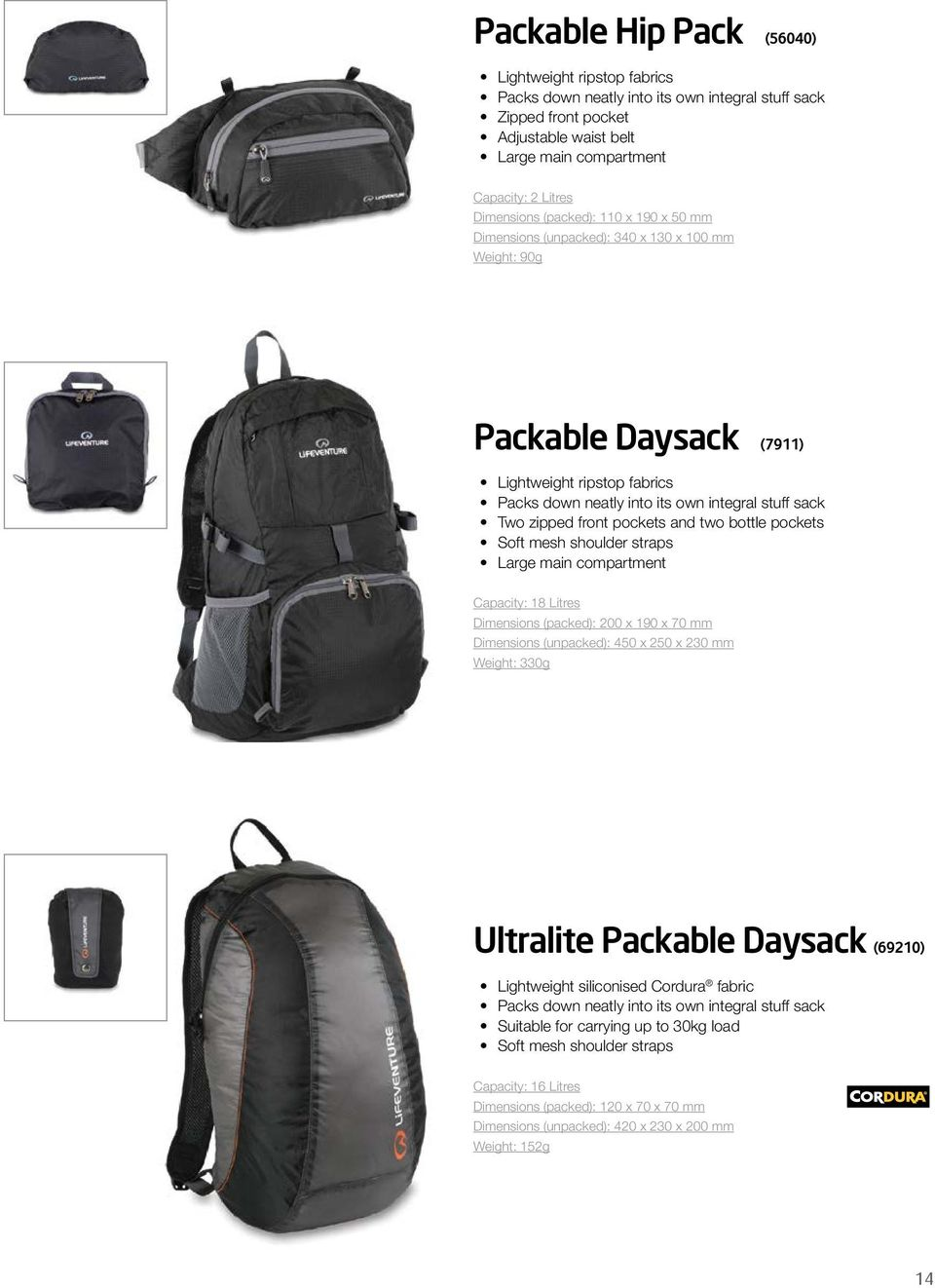 front pockets and two bottle pockets Soft mesh shoulder straps Large main  compartment Capacity  18 cda03b4647739