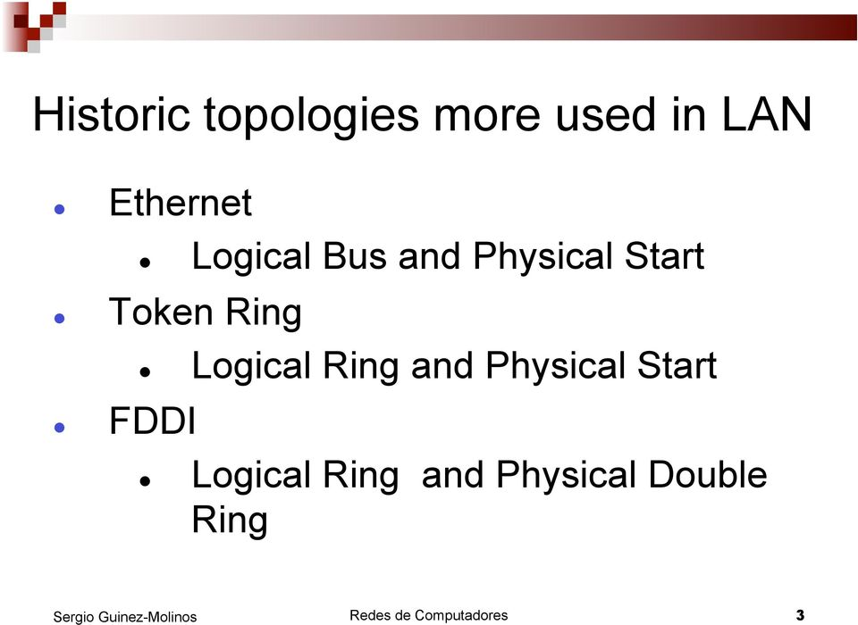 Logical Ring and Physical Start FDDI Logical