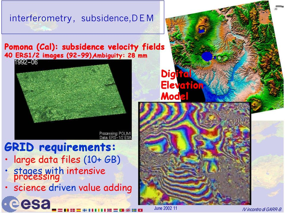 Digital Elevation Model GRID requirements: large data files (10+