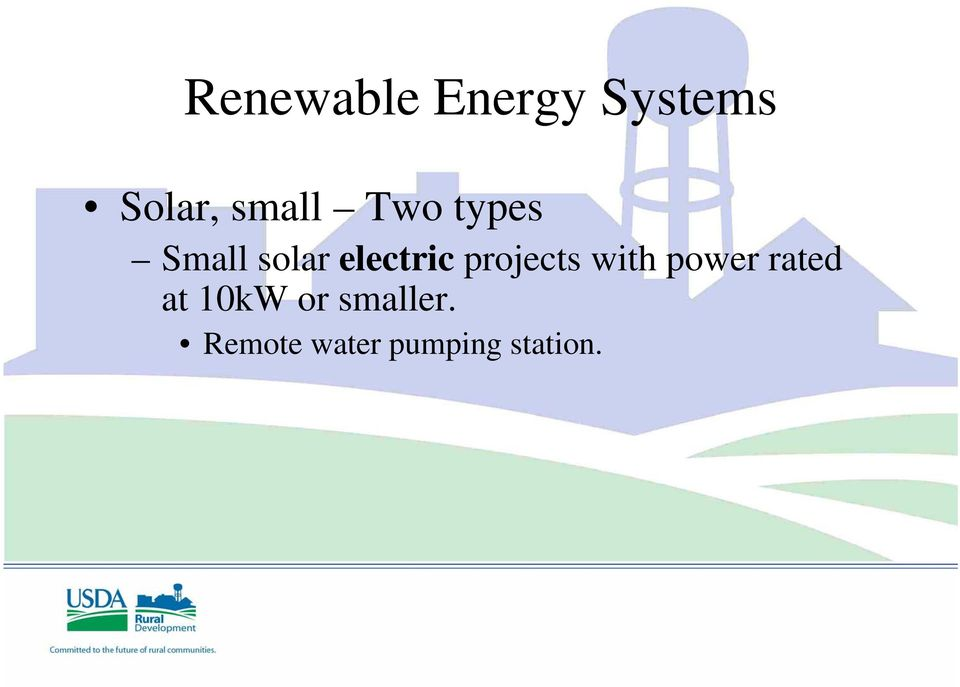 electric projects with power rated