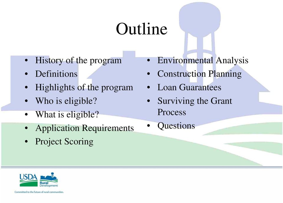 Application Requirements Project Scoring Environmental