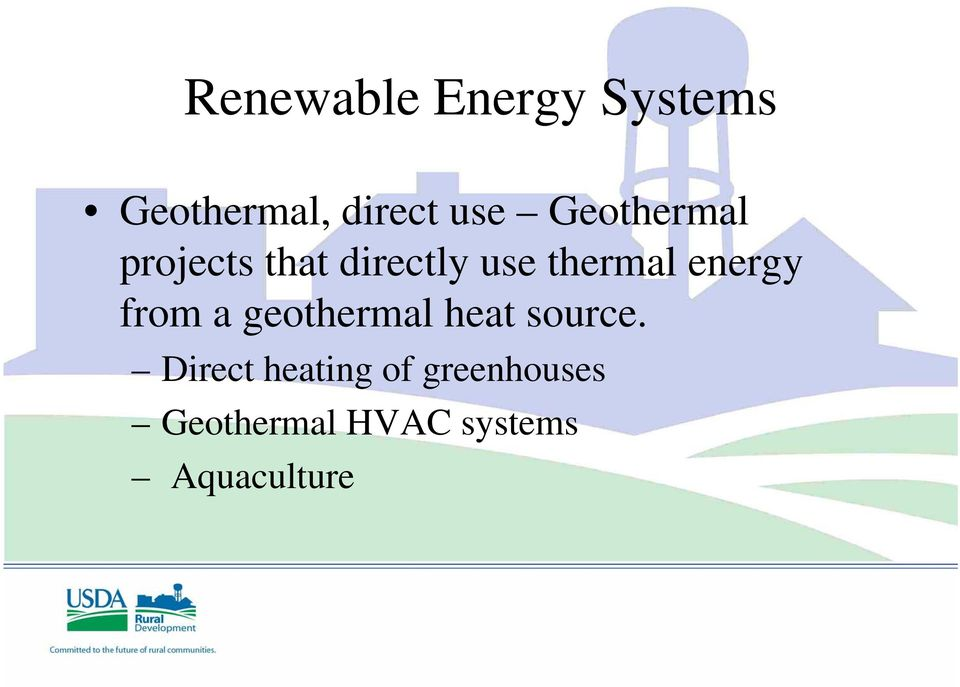 energy from a geothermal heat source.