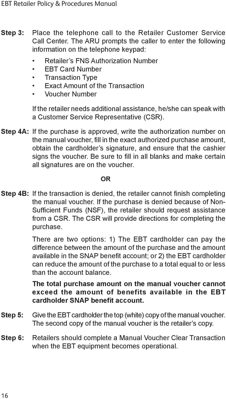 Customer service manual for retail array retailer policy u0026 procedures manual for ebt program using omni 3200 rh docplayer net fandeluxe Choice Image