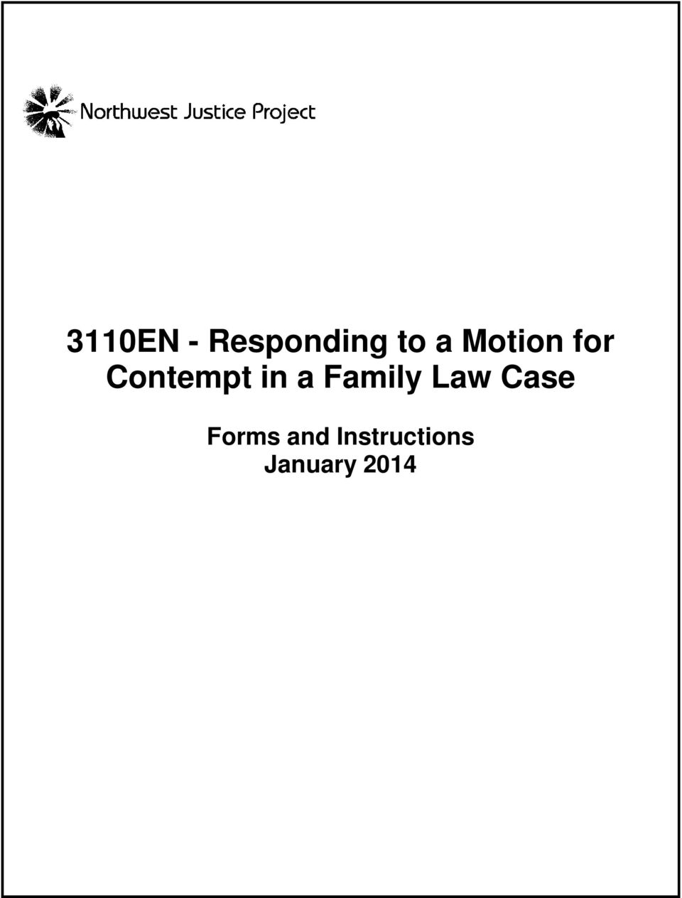 3110EN - Responding to a Motion for Contempt in a Family Law
