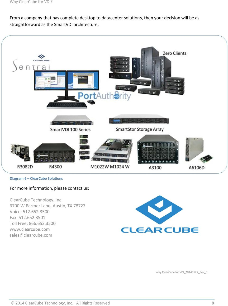 Diagram 6 ClearCube Solutions For more information, please contact us: ClearCube Technology, Inc.
