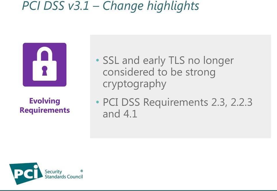Requirements SSL and early TLS no