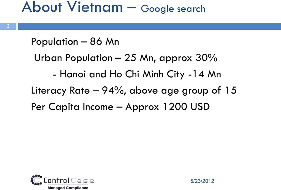 Chi Minh City -14 Mn Literacy Rate 94%, above age