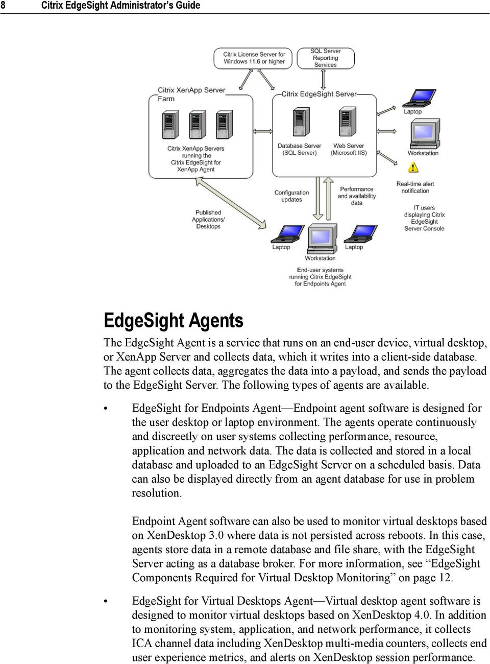 EdgeSight for Endpoints Agent Endpoint agent software is designed for the user desktop or laptop environment.