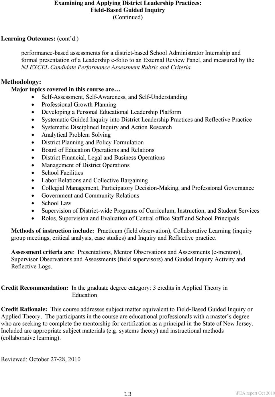 Academic Program Review Foundation For Educational