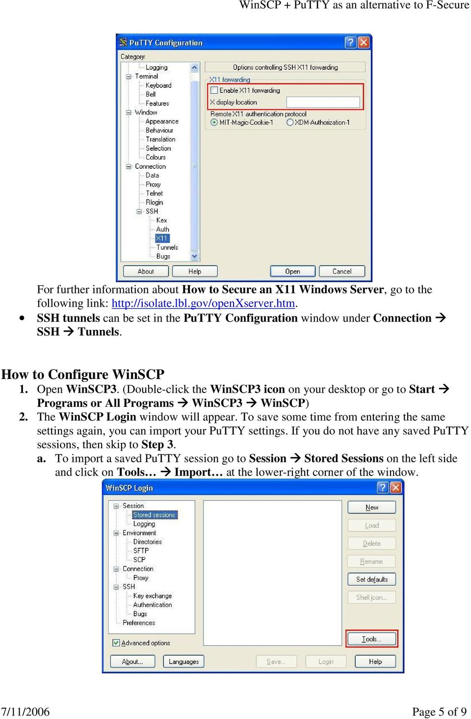 WinSCP PuTTY as an alternative to F-Secure July 11, PDF