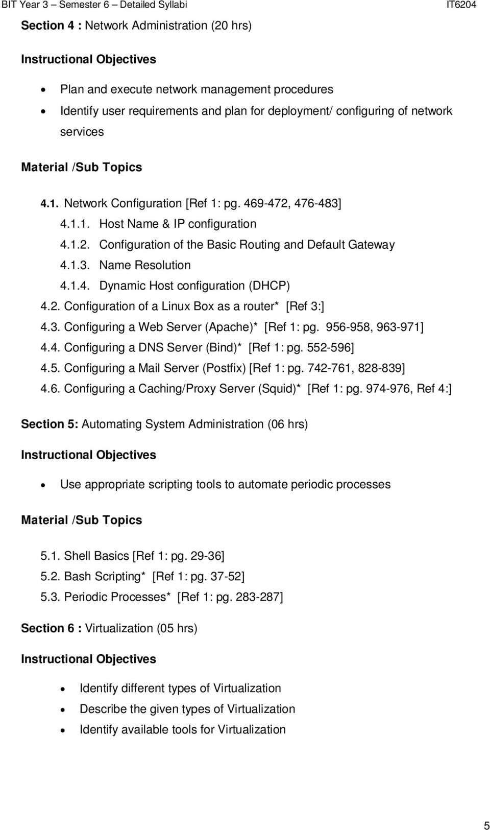 IT6204 Systems & Network Administration  (Optional) - PDF