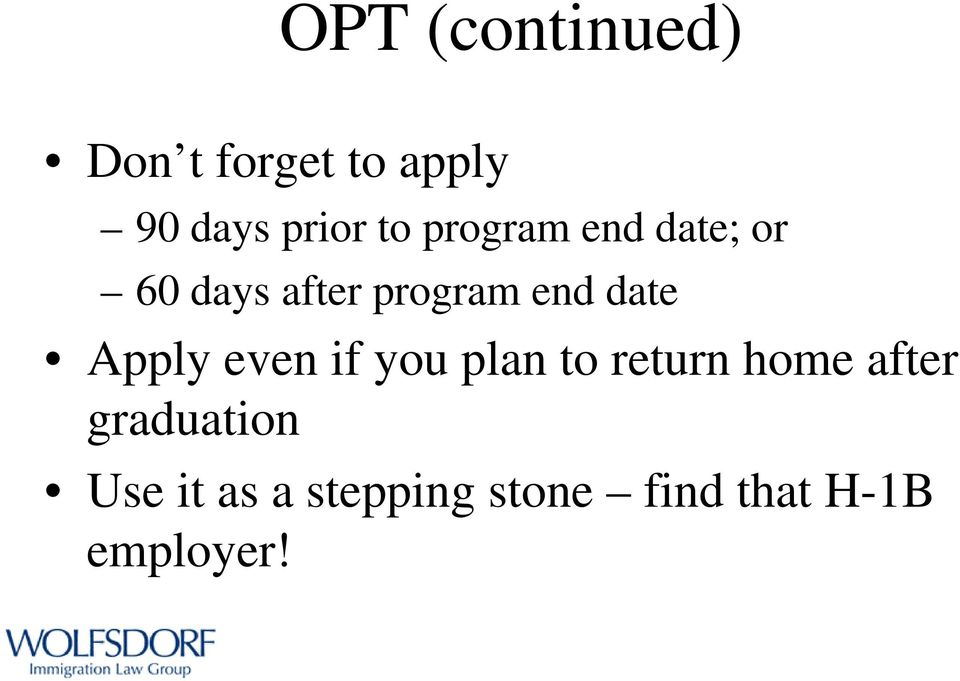 Life After OPT: Work Visa Options - PDF
