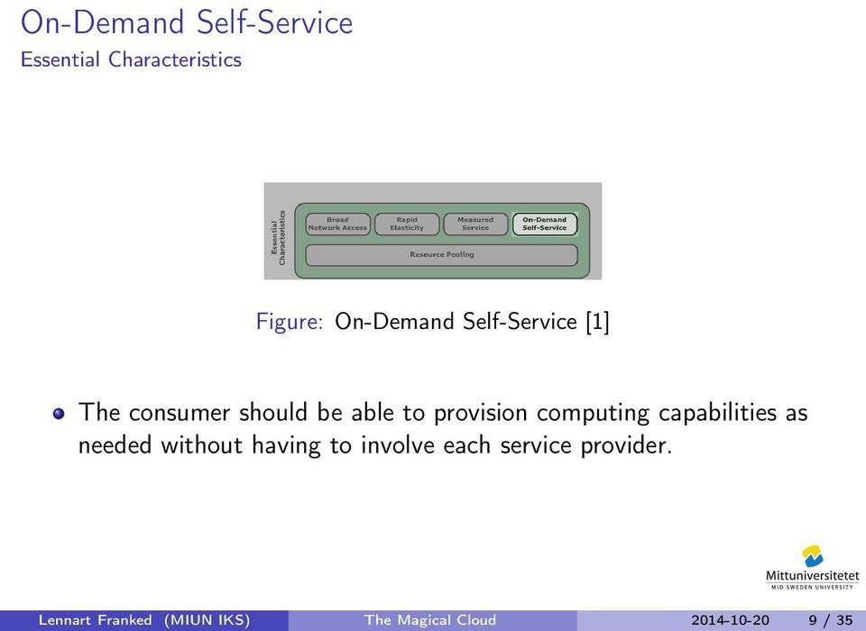 capabilities as needed without having to involve each service