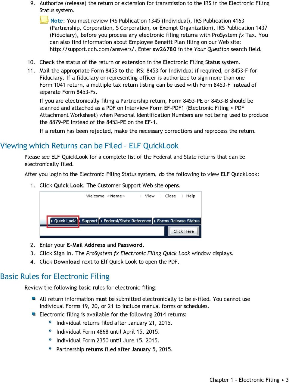 ProSystem fx Electronic Filing User Guide - PDF