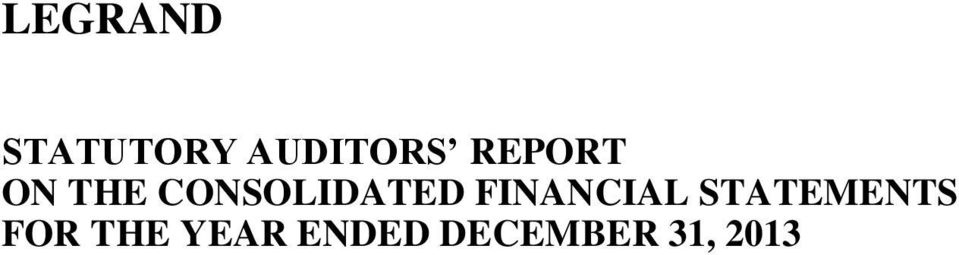 FINANCIAL STATEMENTS FOR