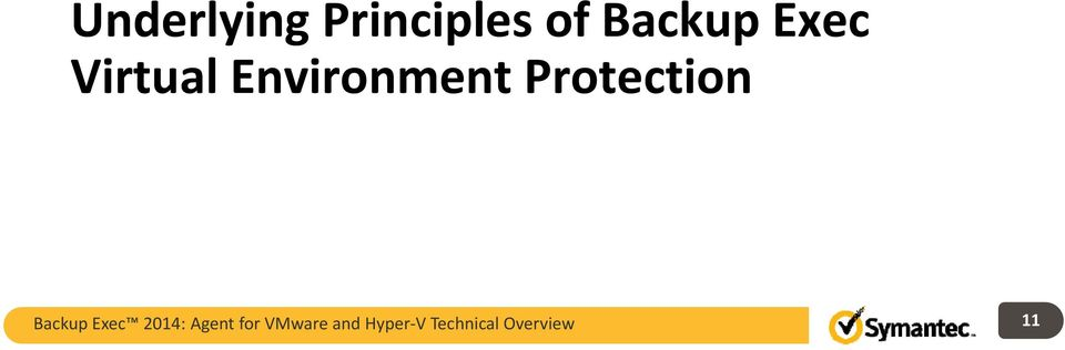 Protection Backup Exec 2014: