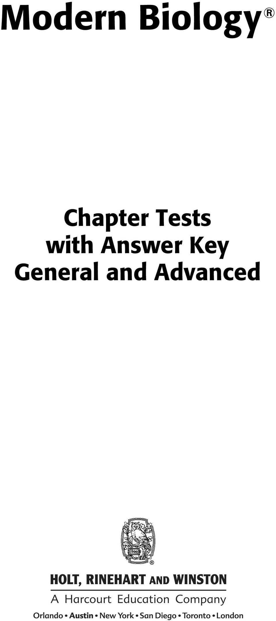 35 Array - modern biology chapter tests with answer key general and  advanced pdf rh docplayer net