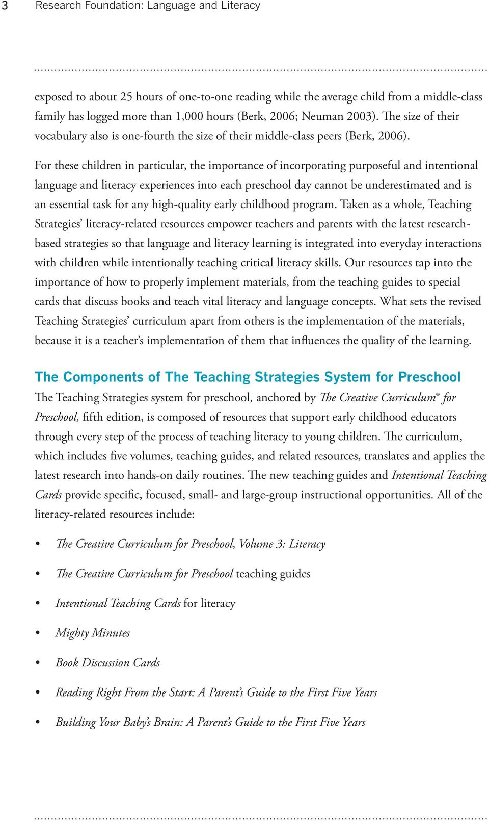 Research Foundation: Language and Literacy - PDF