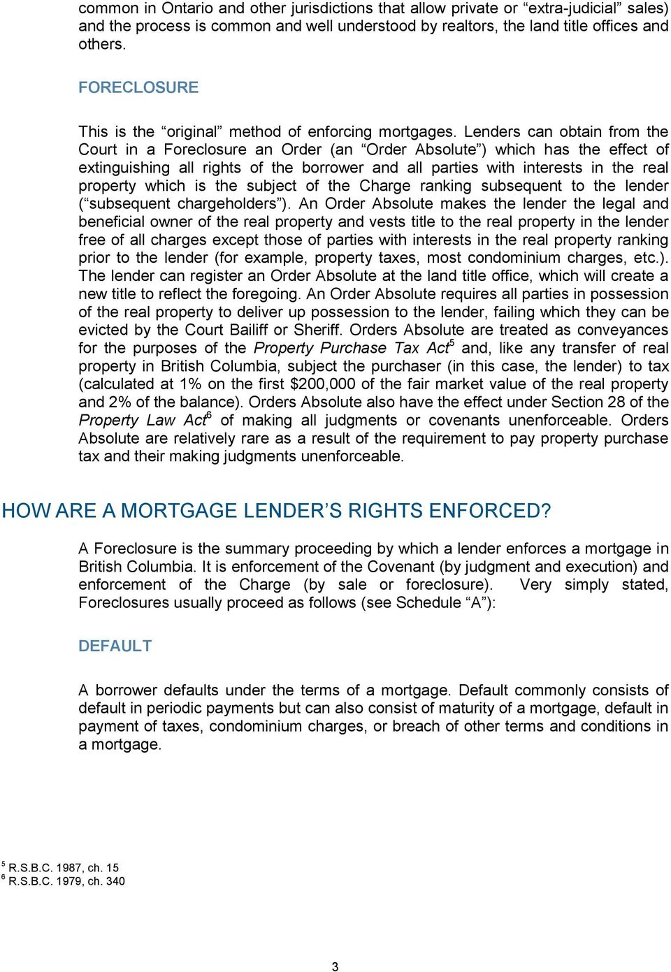 MORTGAGE COLLECTIONS in British Columbia - PDF