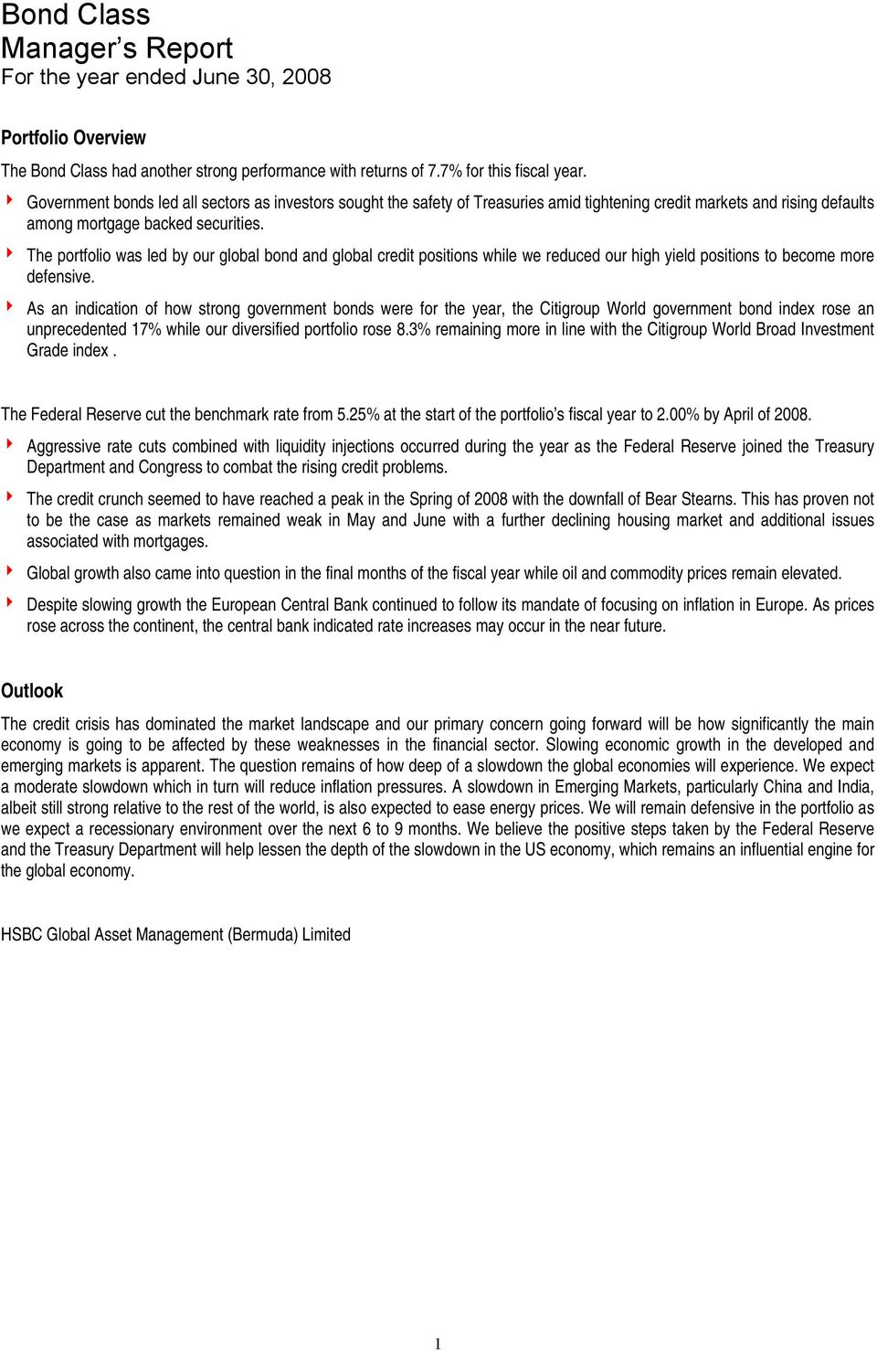 HSBC Fund of Funds Limited  Annual Report June PDF