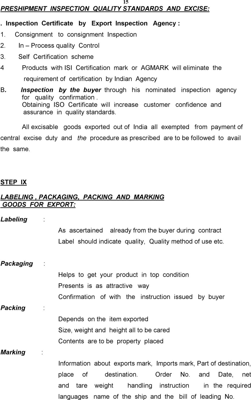 Labelling Requirements For Exported Goods