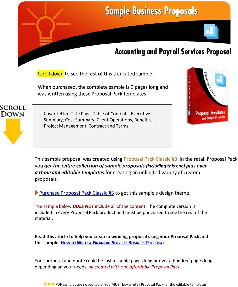 Accounting and Payroll Services Proposal - PDF