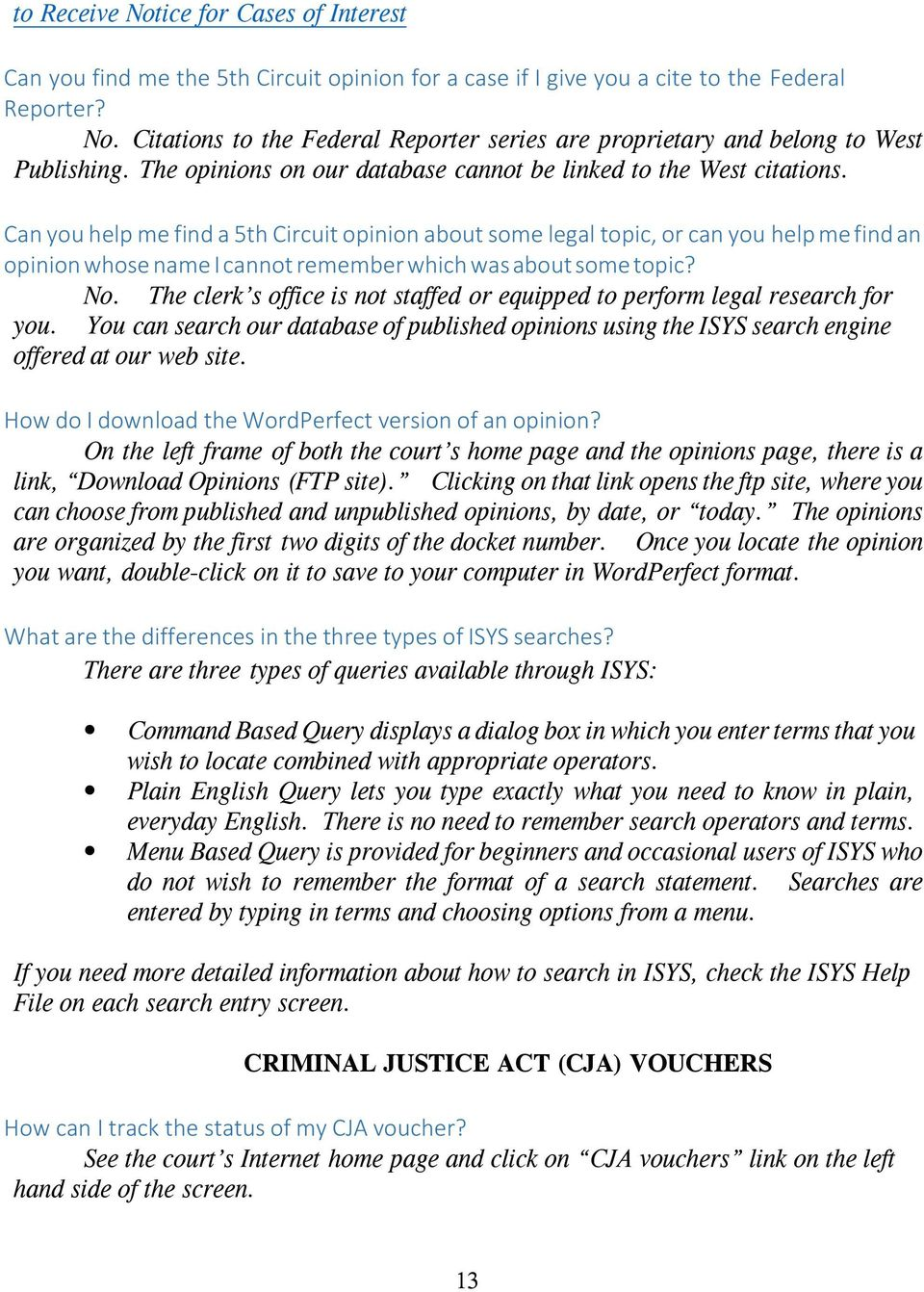 CLERK S OFFICE MOST FREQUENTLY ASKED QUESTIONS - PDF