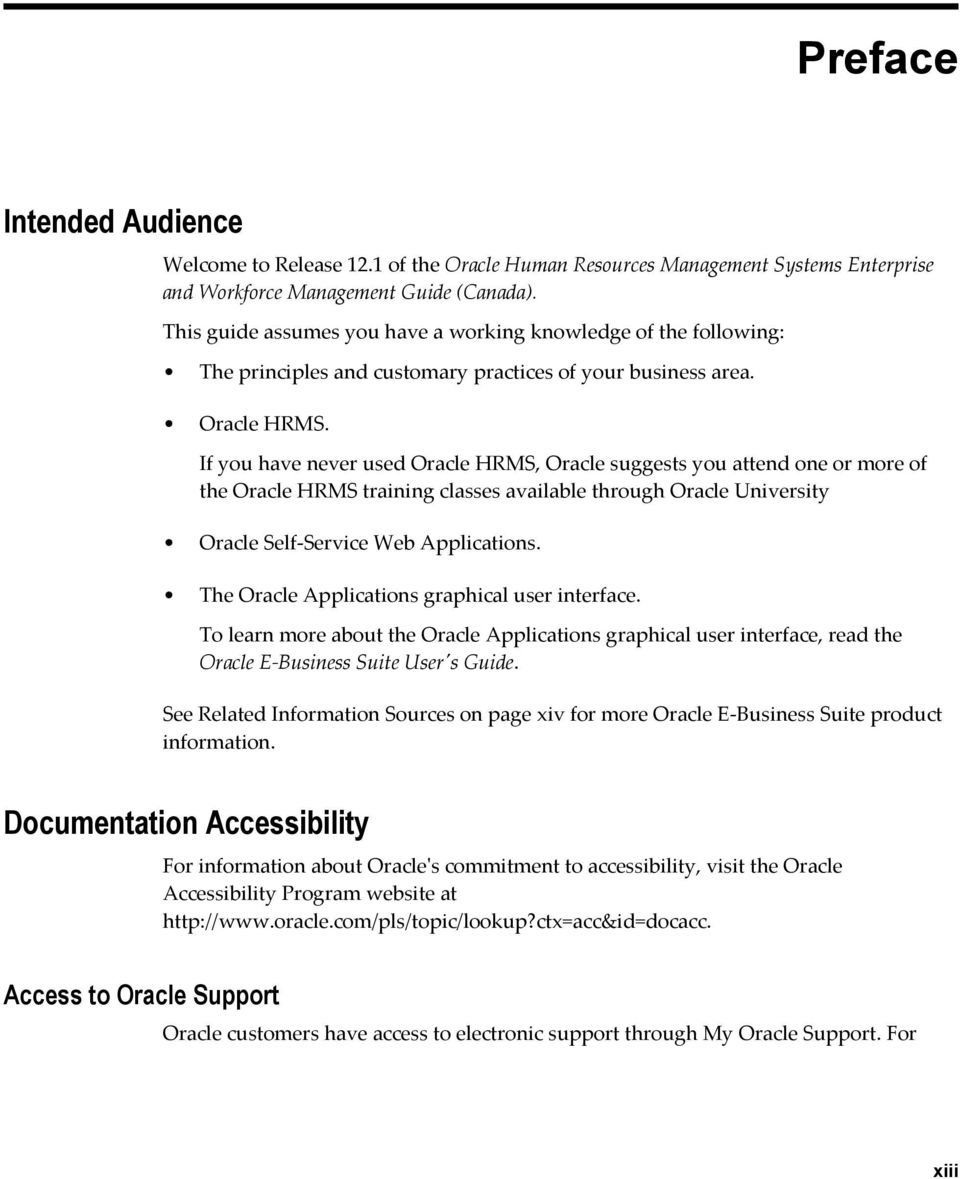 oracle human resources support