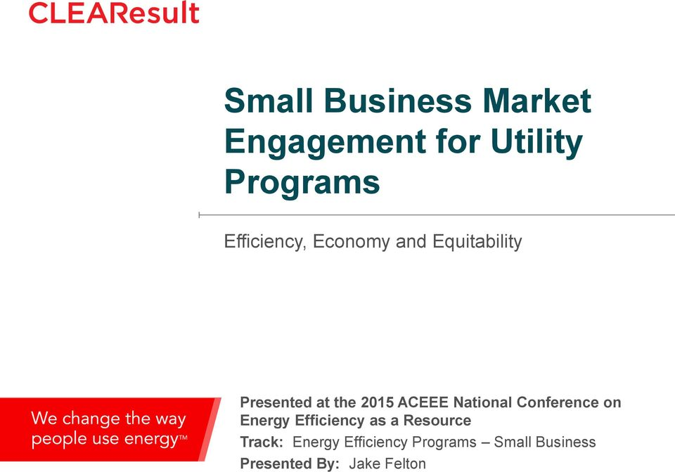 Small Business Market Engagement for Utility Programs - PDF