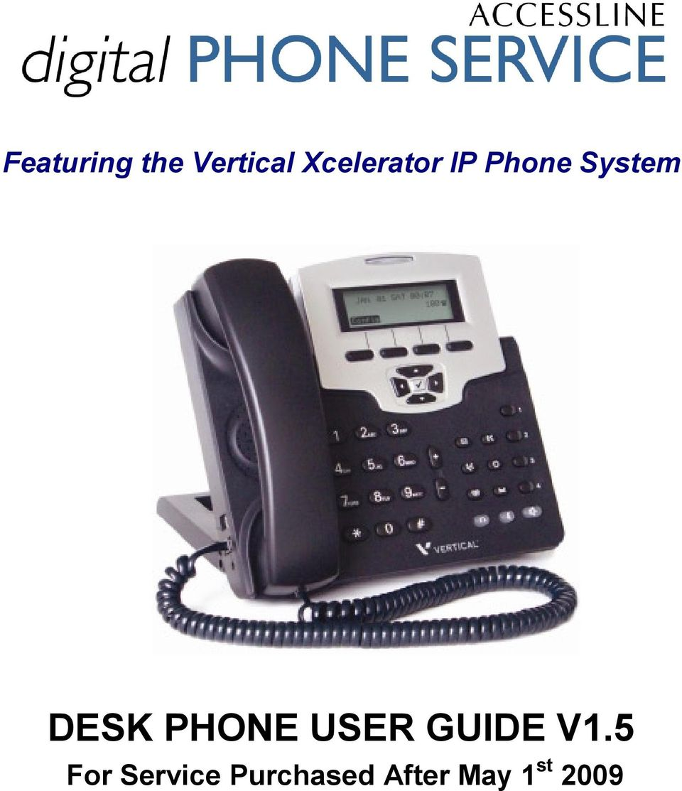 DESK PHONE USER GUIDE V1.