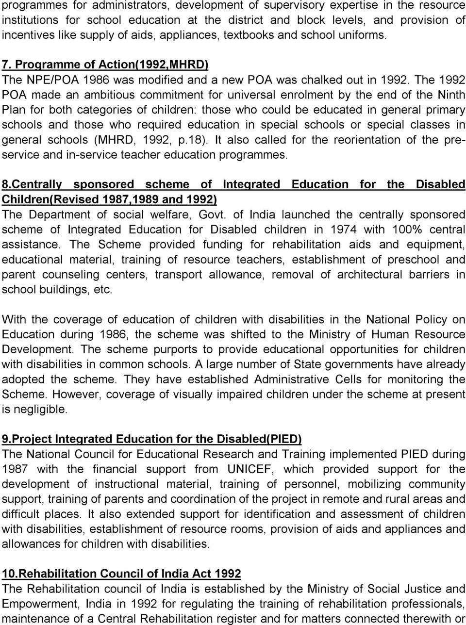 From Special Education to Inclusive Education: An Analysis