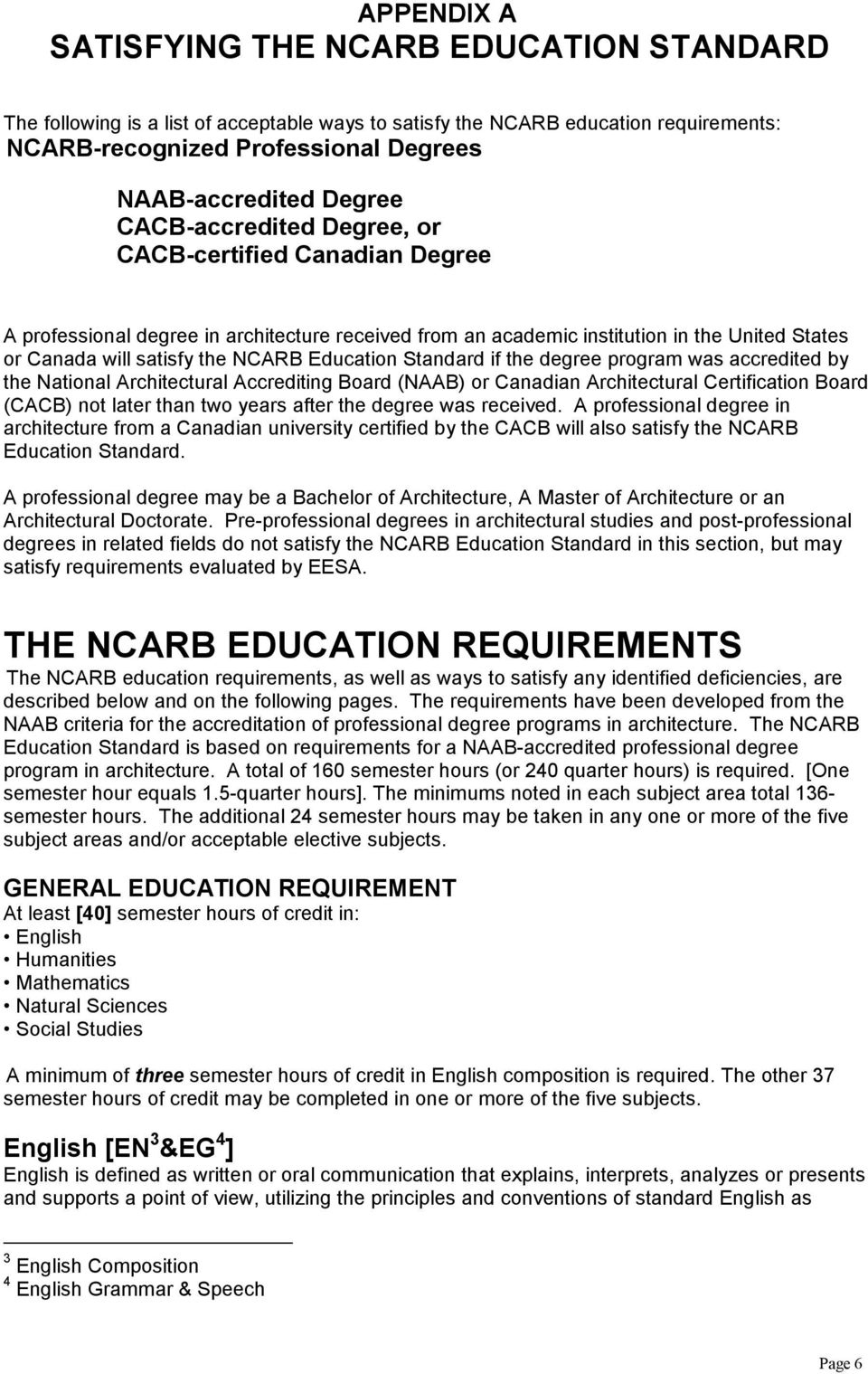 Education Evaluation Services For Architects Eesa Instructions For