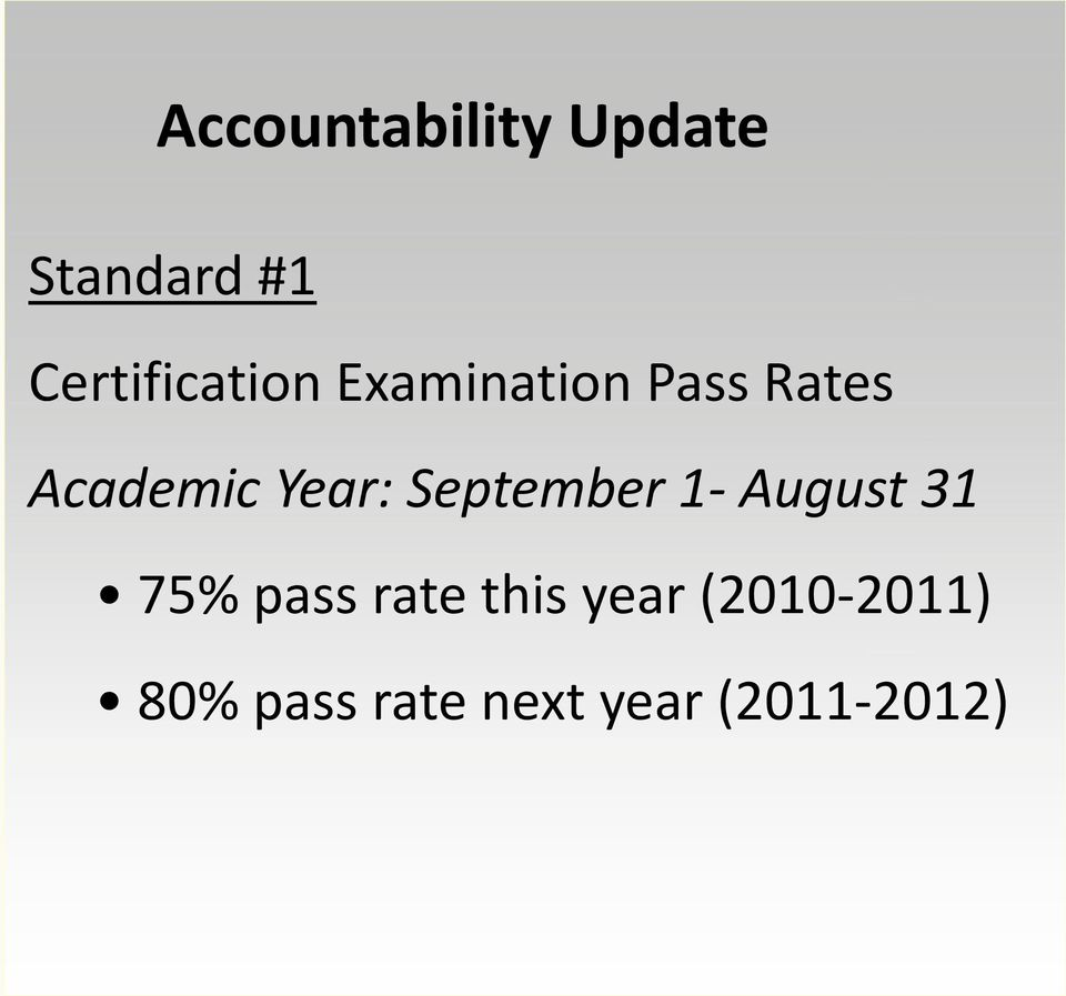 Academic Year: September 1- August 31 75%