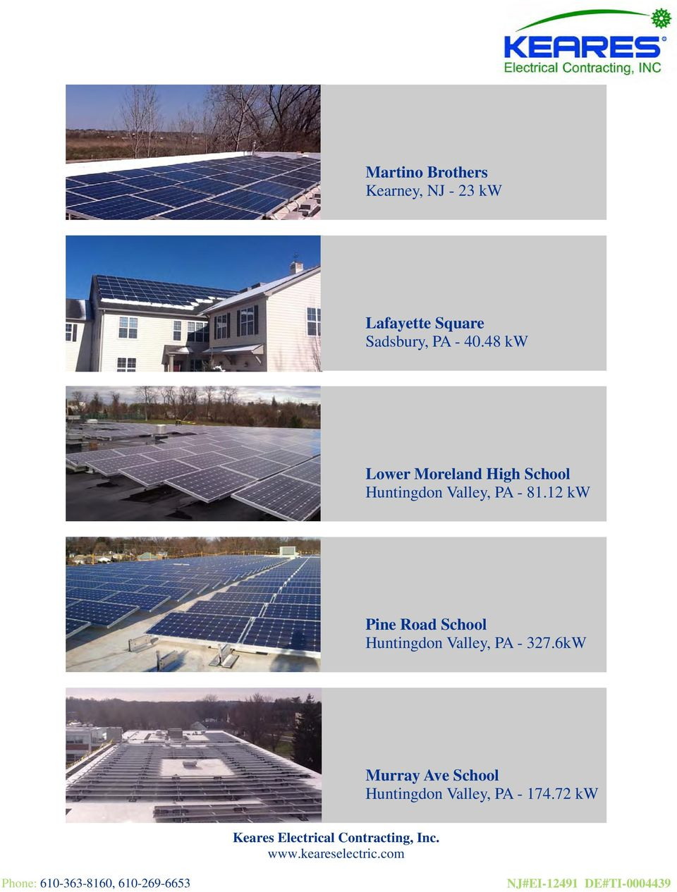 48 kw Lower Moreland High School Huntingdon Valley, PA - 81.