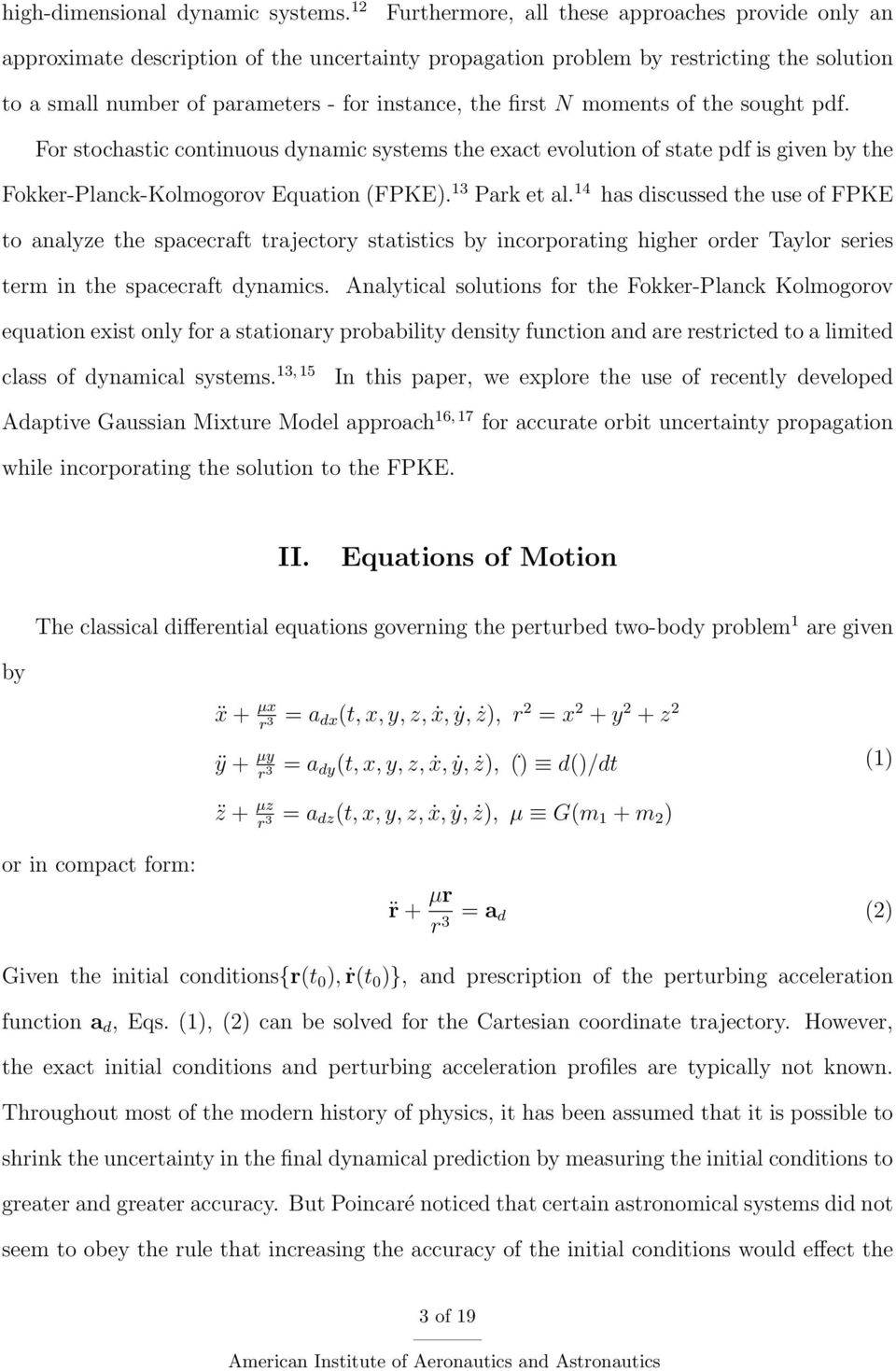 An Approach for Nonlinear Uncertainty Propagation