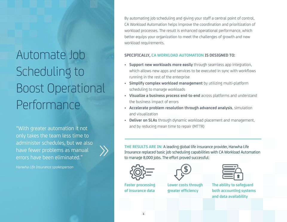 The result is enhanced operational performance, which better equips your organization to meet the challenges of growth and new workload requirements.