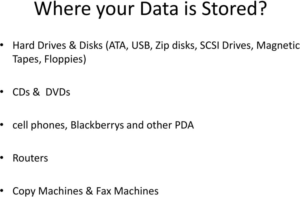 Drives, Magnetic Tapes, Floppies) CDs & DVDs