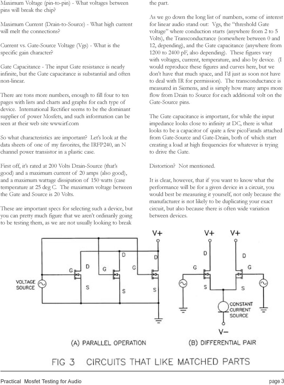 Practical Mosfet Testing For Audio Pdf Class D Amplifier Circuit Lm1036 Tone Controlled Irs2092 There Are Tons More Numbers Enough To Fill Four Ten Pages With Lists And