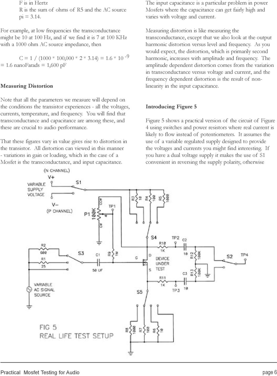 Practical Mosfet Testing For Audio Pdf Class D Amplifier Circuit Lm1036 Tone Controlled Irs2092 6 10 9 1