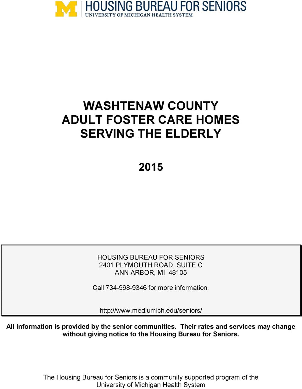 adult foster care home michigan