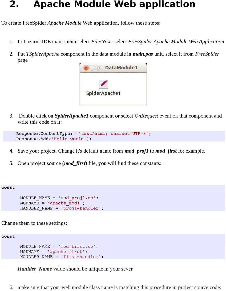 Free Spider Web development for Free Pascal/Lazarus user's