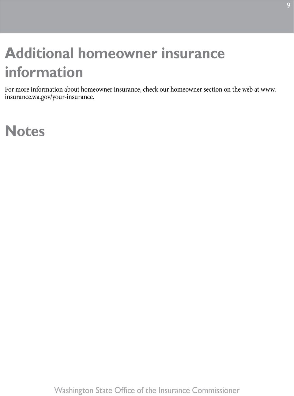 insurance, check our homeowner section on