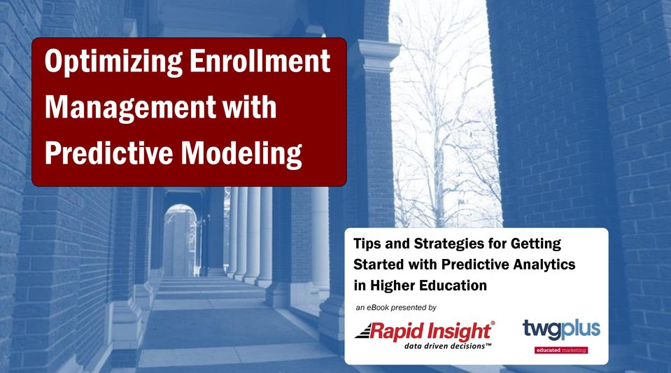 Education an ebook presented by Optimizing Enrollment with
