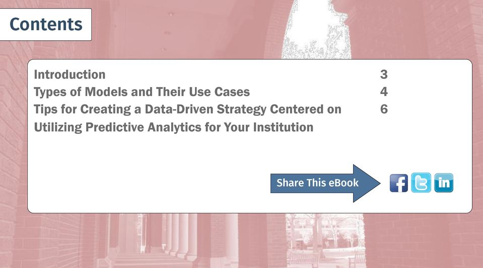 Predictive Analytics for Your Institution Optimizing Enrollment