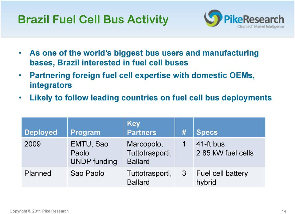Fuel Cell Buses in Perspective: International Programs and