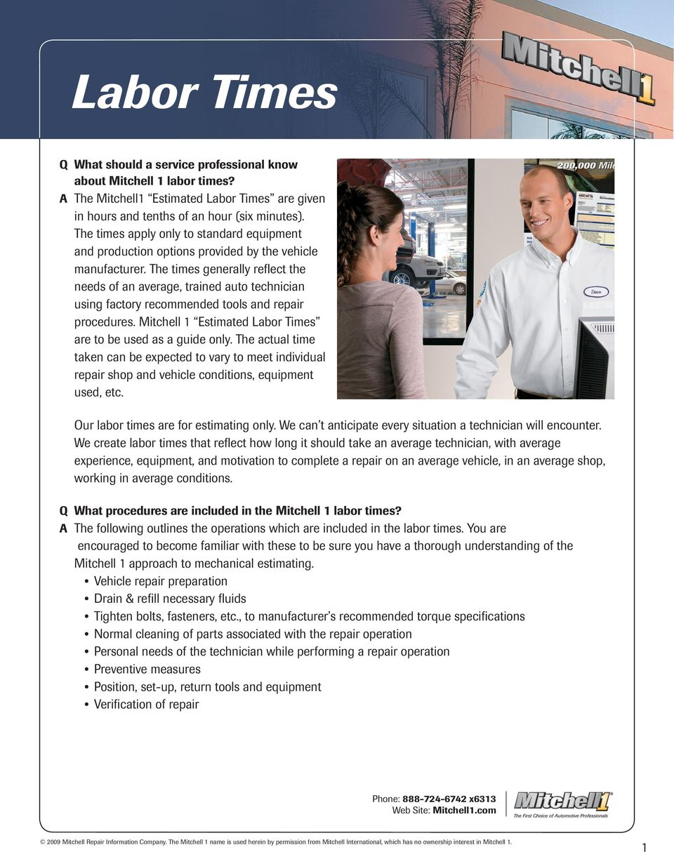 automotive labor time estimator